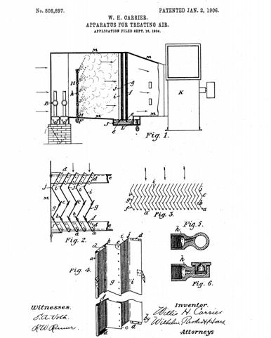 patent na klimatyzacje willisa carriera